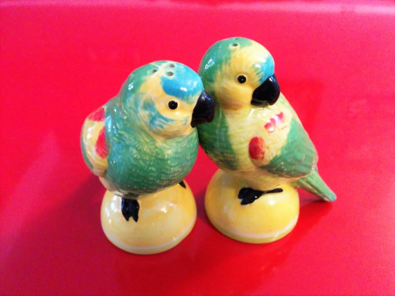 Grandma Van Sandt's Lovebird Salt and Pepper Shakers